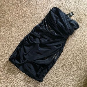 NWT Express Strapless Bodycon Lace Dress